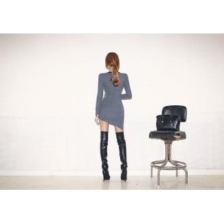 Trendy Asymmetric Slim Long Sleeve Top