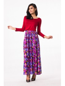 Fashion Two-Piece Joint Floral Design Modern Jubah Dress