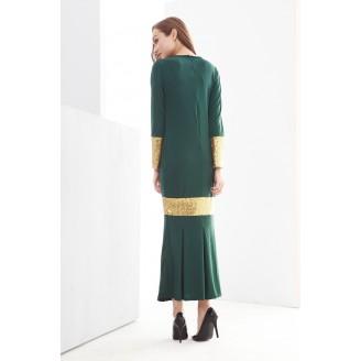 Fashion Round Neck Sequin Design Modern Jubah Dress
