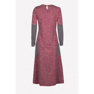 Fashion Classic Tunic Slit Modern Jubah Dress With Pockets