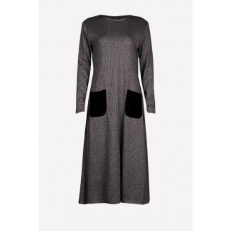 Fashion Classic Long Modern Jubah Dress With Pockets
