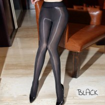 Fashion Pantyhose With Closed Crotch Glossy Oil Shiny Detail 8D