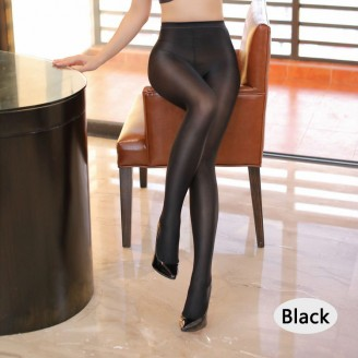 Fashion Pantyhose Closed Crotch Glossy Oil Shiny Detail 70D