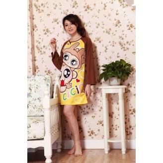 Cute Happy Cici Long Sleeve Nightshirt